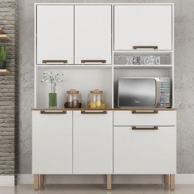 Armário Kit Cozinha Siena – Branco – Salleto