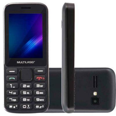 Telefone Celular Multilaser Preto Zapp 3g Tela 2,4 p9098