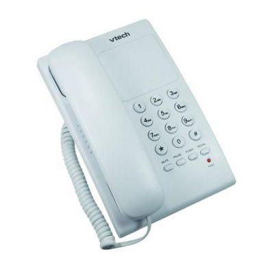 Telefone VTECH com Fio VTC105W Digital Branco 115033