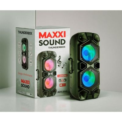 Caixa de Som Amplificada AD1200 Thunderbox 1000W Bivolt Maxxisound