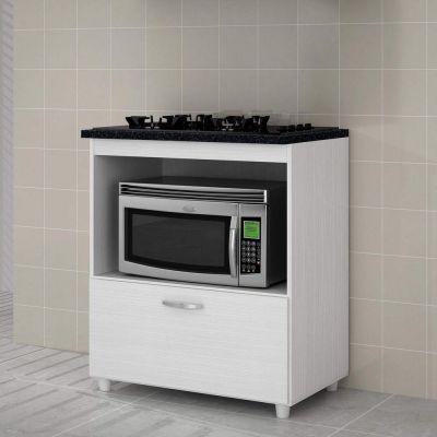 Balcão CookTop 406 1 Porta com Espaço para Micro-ondas
