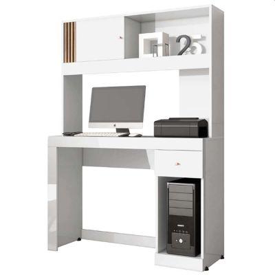 Mesa para computador e escritório EDN Joya com Gaveta e Nicho