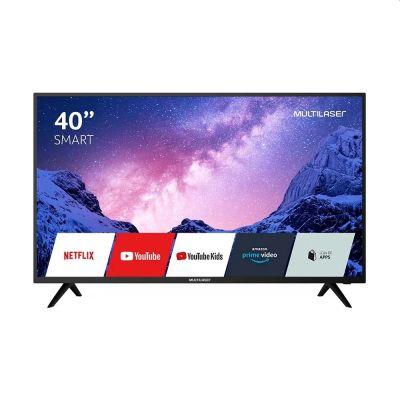 """TV 40"""" Smart Full HD com Wi-fi integrado TL030 Multilaser"""