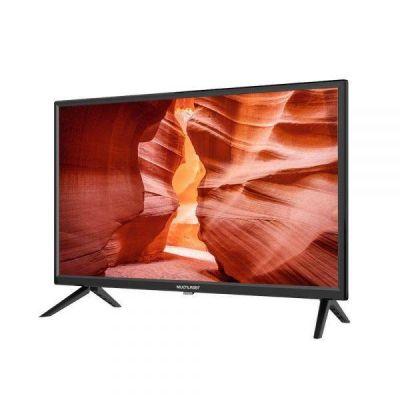 """TV 24"""" HD Multilaser Função DNR, USB HDMI Conversor Digital Externo - TL037"""
