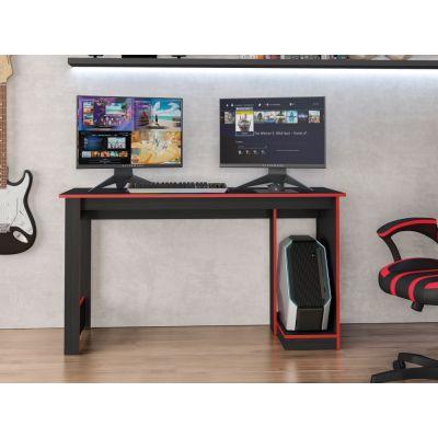 Mesa de Computador Gamer Caemmun Preto e Vermelho