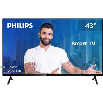"TV Smart Philips 43"" Full HD 43PFG6825/78 HDR Plus Wi-Fi Conversor Digital"