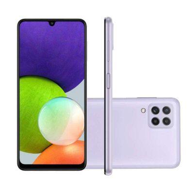 """Smartphone Samsung  A22 violeta  128/4gb  6,4"""" câmera quádrupla selfie 13MP"""