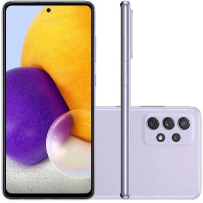 """Smartphone Samsung  A72 violeta  128/6gb  6,7"""" câmera quádrupla selfie 32MP"""