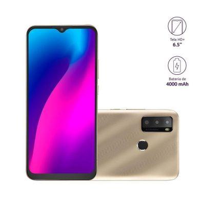 Smartphone Multilaser G Max 2 Dourado 64GB 2GB 4G Tela 6,5 Câmera Tripla P9157