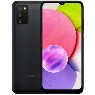 "Smartphone Samsung A03S 64GB 4GB RAM 4G Câmera Tripla + Selfie 5MP 6.5"" Preto"