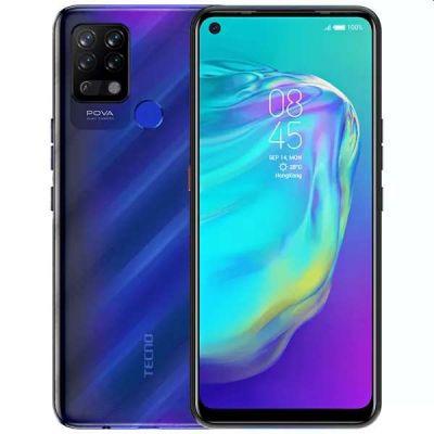 """Smartphone Tecno POVA LD7 DS 6/128GB 6.8"""" 13+2+2+VGA/8MP A10 - Magic Blue"""