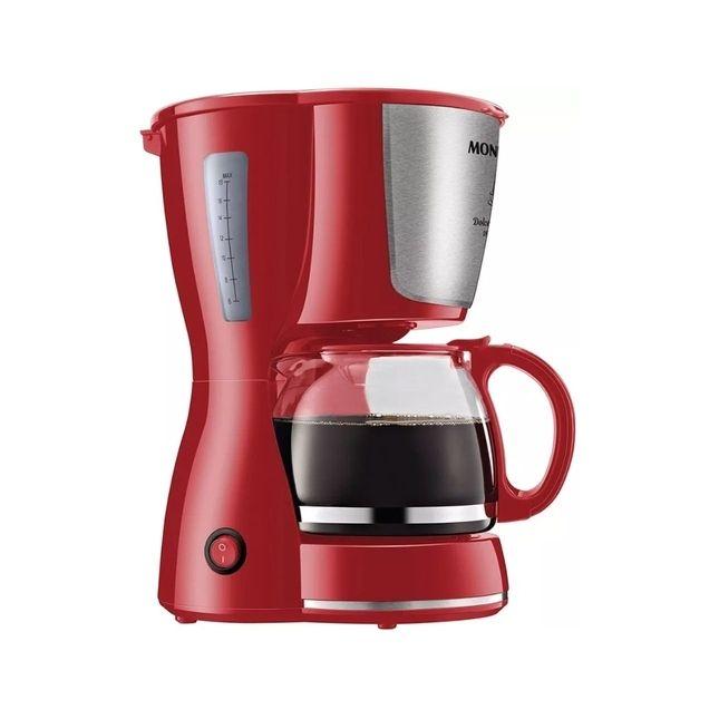 Cafeteira Elétrica Mondial Dolce Arome 18 Xícaras Inox Vermelha