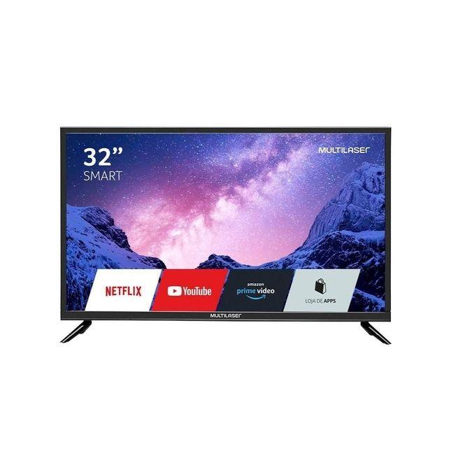 TV 32 Smart Led Multilaser Hd Wi-Fi 3 Hdmi 2 Usb Dnr Tl020