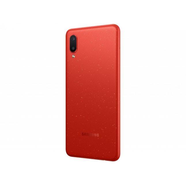 """Smartphone Samsung A02 32GB Vermelho 4G - Quad-Core 2GB RAM 6,5"""" Câmera Dupla"""